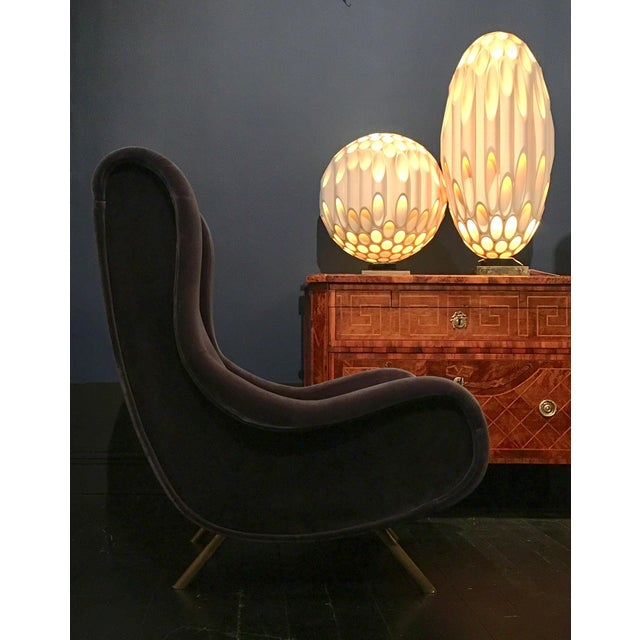 Brass Early Marco Zanuso Designed Senior Armchair Circa 1950 For Sale - Image 7 of 8