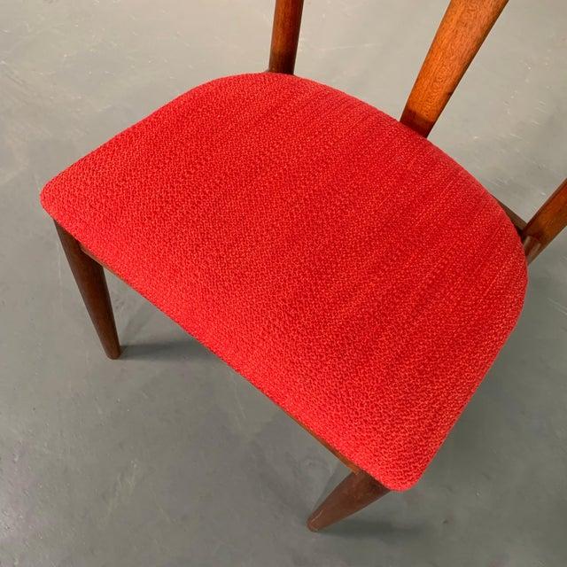 "Vintage Mid Century Danish Modern Teak ""Juliane"" Chair For Sale - Image 9 of 10"