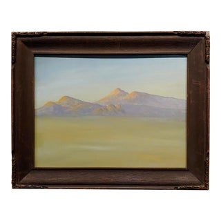 Robert Wood California Desert Landscape Oil Painting For Sale