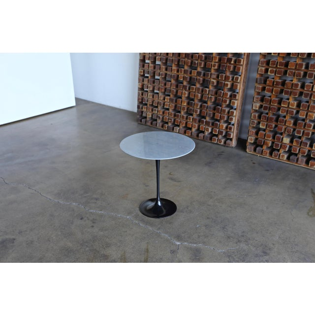 Eero Saarinen Gray Marble Occasional Table for Knoll Circa 1980 For Sale - Image 9 of 9