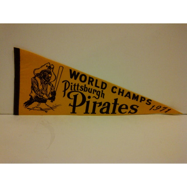 A vintage MLB Pittsburgh Pirates World Champs 1971 team pennant.