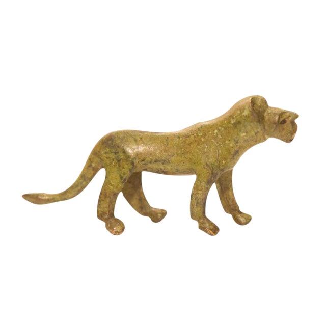 Vintage Bronze Lioness Figurine / Ashanti Gold Weight For Sale