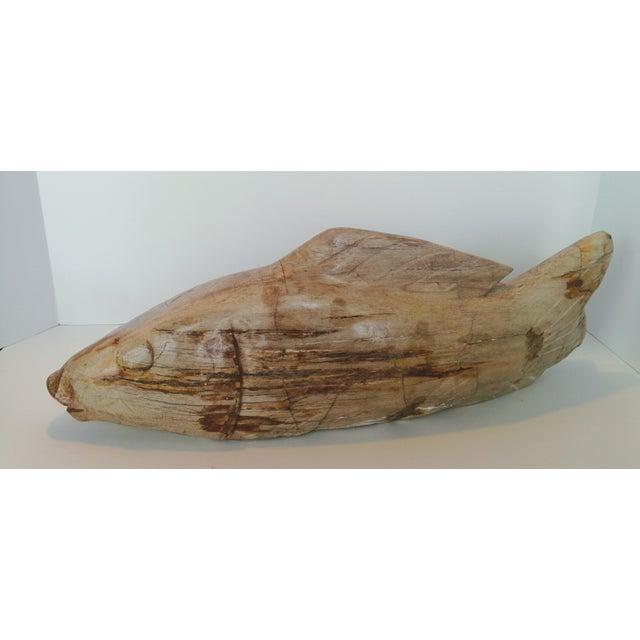 Jumbo Petrified Wood Koi Fish Sculpture For Sale - Image 4 of 10