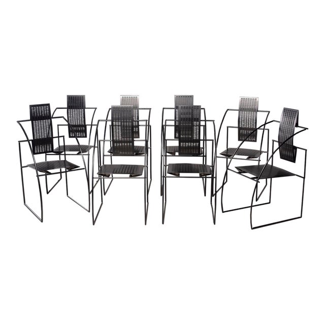 Alias Italian Botta Quinta Op Art Dining Chairs - Set of 8 For Sale