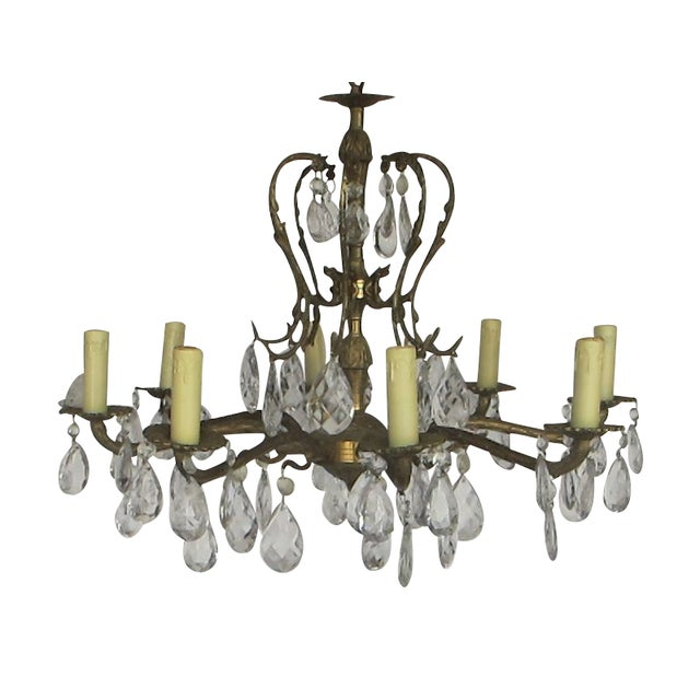 1950's Hollywood Regency Crystal Chandelier - Image 1 of 6