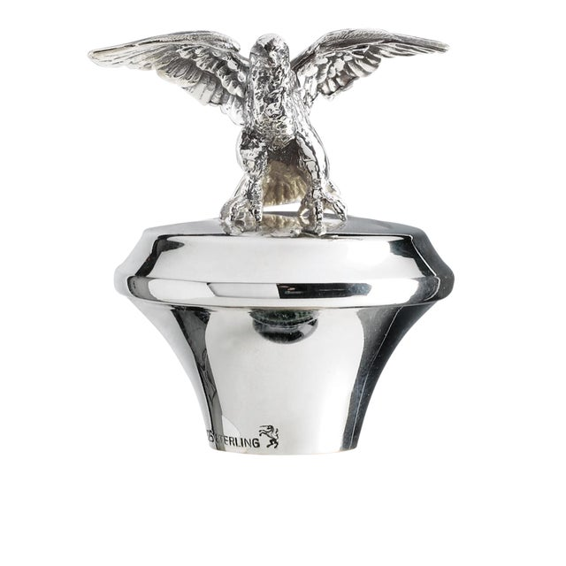 Sterling Silver Cork Bottle Stopper With Eagle Figurine For Sale