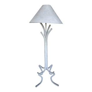 1980's Plaster Floor Lamp For Sale