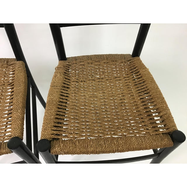 Gio Ponti Ladder Back Chairs - a Pair For Sale - Image 9 of 9