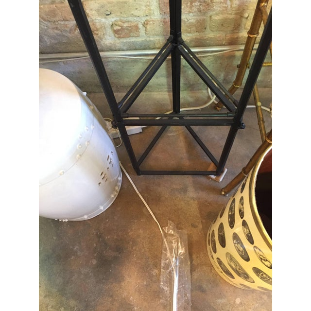 Mid 20th Century Vintage Iron and Gilt Trellis Screen Dividers-a Pair For Sale - Image 5 of 9