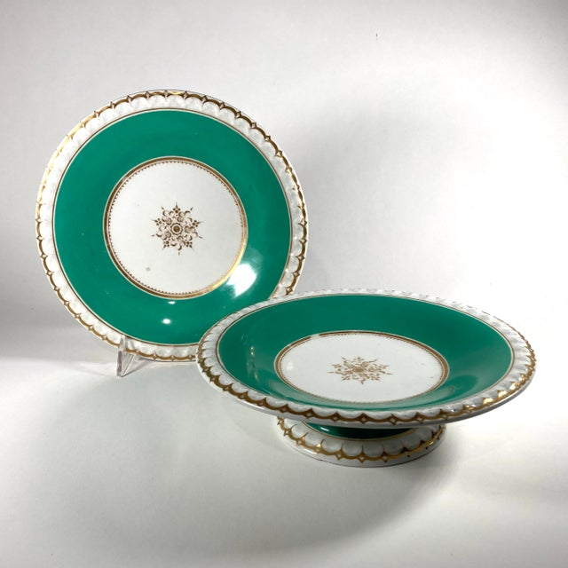 19th-Century English Porcelain Tazzas - a Pair For Sale In Cleveland - Image 6 of 6
