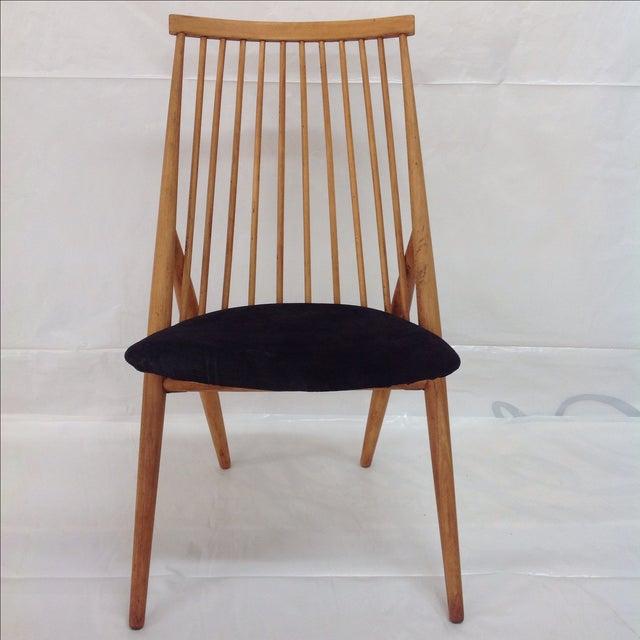 Scandinavian Modern Thea Leonard Flamingo Chair. Designed for Nässjö Stolfabrik Sweden in 1955 beech wood with black...