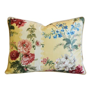 "Brunschwig & Fils Sybilla Floral Feather/Down Pillow 23"" X 18"" For Sale"