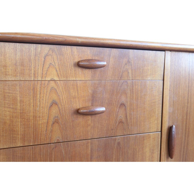 1950s 1950s Mid-Century Modern Dyrlund Credenza With Tambour Doors For Sale - Image 5 of 8
