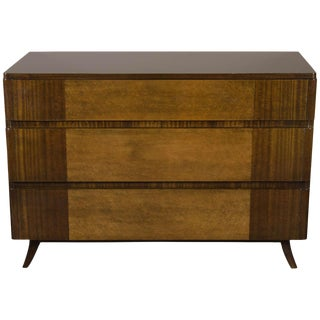 Art Deco Chest in Bookmatched Mahogany and Exotic Elm For Sale