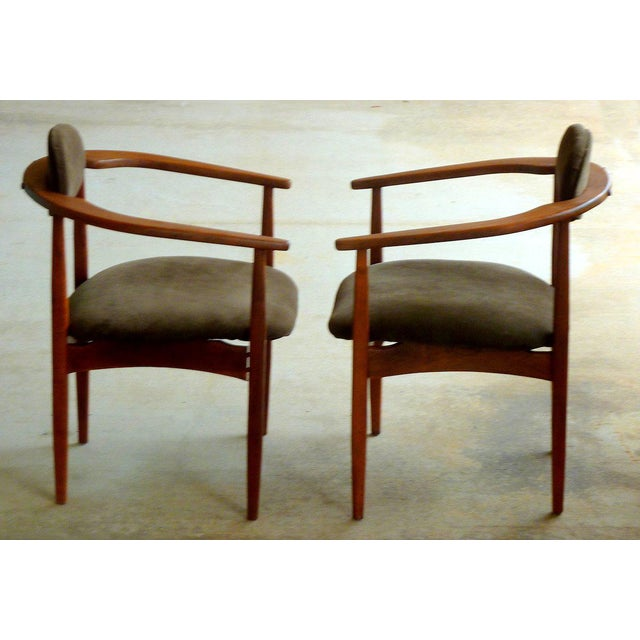 Mid-Century Modern Adrian Pearsall Armchairs - A Pair For Sale - Image 3 of 10