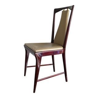 Osvaldo Borsani Style Italian Mahogany Dining Chairs - Set of 12 For Sale