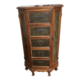 Rustic Vertical Media Chest For Sale