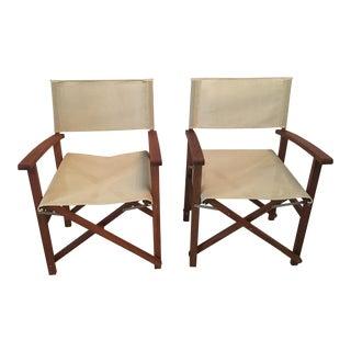 Teak Director's Chairs - A Pair