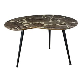 Mid-Century Marble Side Table For Sale