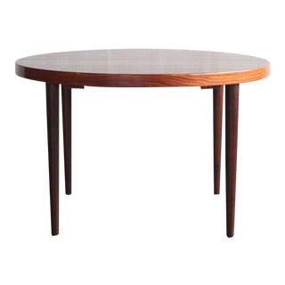 1960s Danish Modern Kai Kristiansen Rosewood Dining Table For Sale