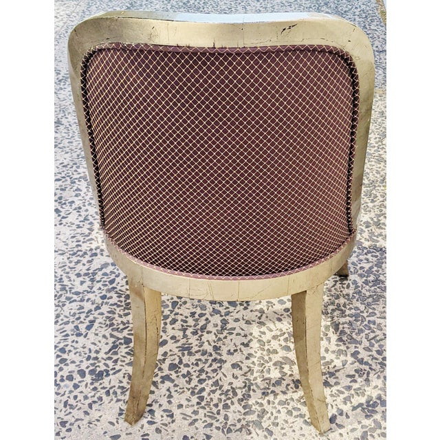 """Vintage 20th Century French """"Donghia"""" Style Gilt Chairs - Set of 4 For Sale In New York - Image 6 of 10"""