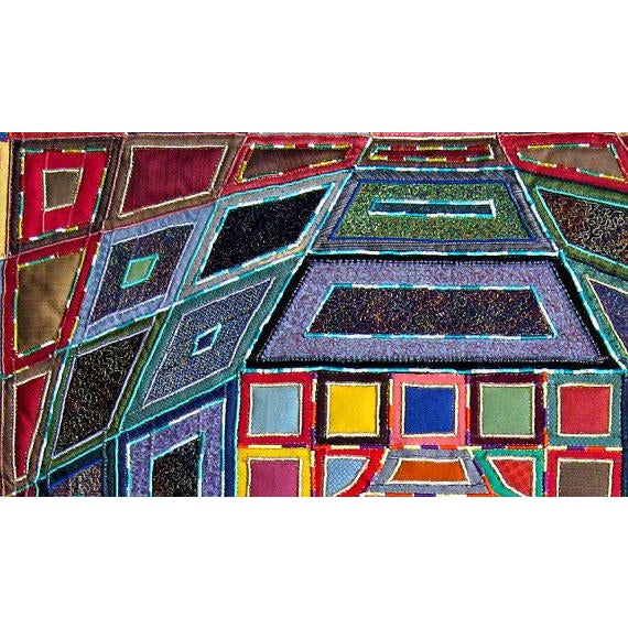 Abstract 2007 Op Art Victor Vasarley Modern Tapestry Wall Hanging Fiber Art Signed Made in Italy For Sale - Image 3 of 9