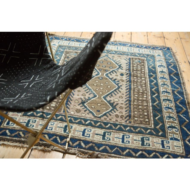 """Vintage Caucasian Square Rug - 3'6"""" x 4' For Sale - Image 4 of 10"""
