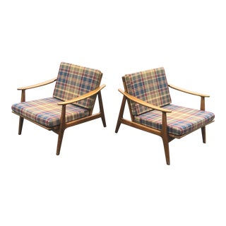 Mid-Century Danish Side Accent Chairs - A Pair For Sale