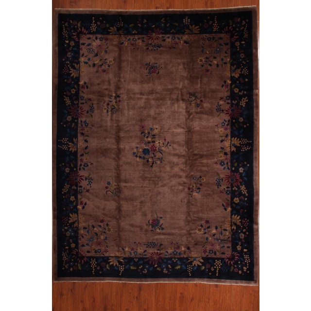 Antique Chinese Art Deco Rug - 10′2″ × 13′5″ - Image 2 of 6