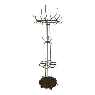 1850 Victorian Cast Iron Hat Rack/Umbrella Stand For Sale