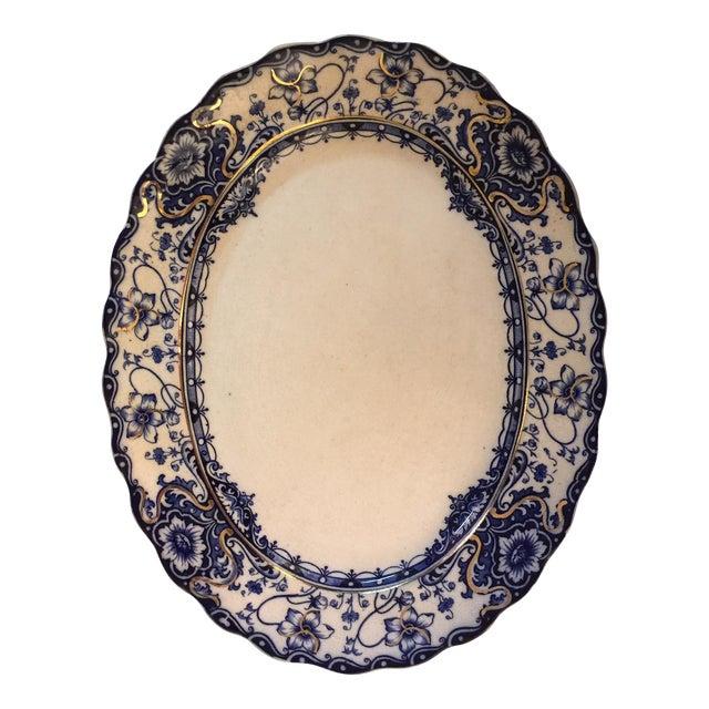 Ironstone Blue & White Platter - Image 1 of 4