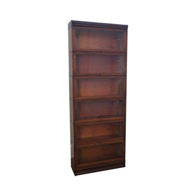 Antique Lundstrom Oak Barrister Stacking Bookcase