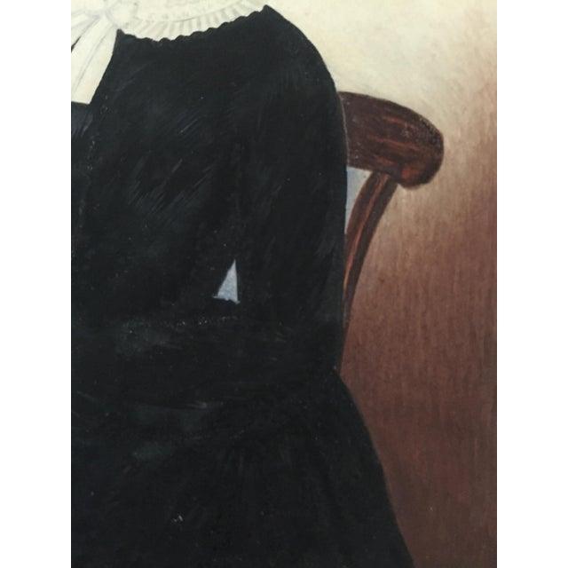 1845 Miniature American Folk Art Portrait - Image 4 of 7