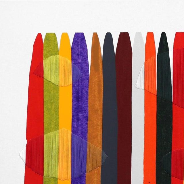 Barcelona native artist Raul de la Torre's vibrant abstract mixed media artworks pay homage to material. De La Torre...