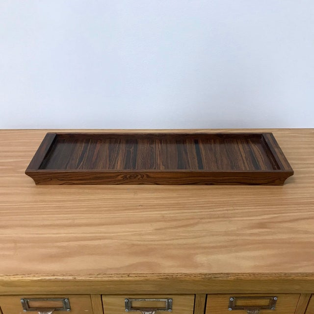 1960s Don Shoemaker Senal Wood Tray For Sale - Image 5 of 7