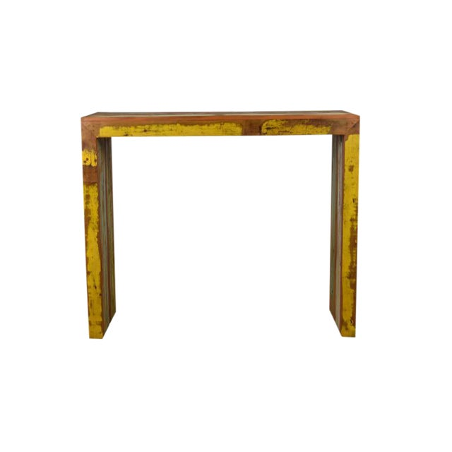 "Reclaimed Wood Balcony Bar Table / High Console 47"" Long - Image 1 of 5"
