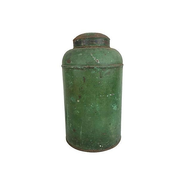 English Painted Tea Canister - Image 2 of 2
