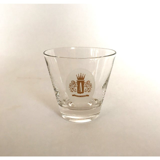 "Traditional Vintage Cocktail ""A"" Monogram Glasses For Sale - Image 3 of 4"