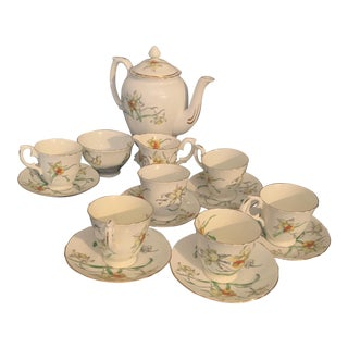 Mid 19th Century Crown Staffordshire Tea Set, 15 Pieces For Sale