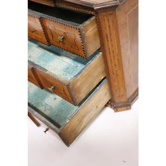 Early 19th Century Italian Neoclassical Fruitwood Jewelry or Silver Chest For Sale In Boston - Image 6 of 8