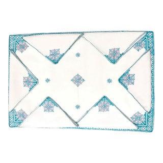 Fez Tray Needlepoint Linen & Napkins - Set of 7 For Sale