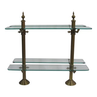 French Marble Base, Brass Standards & Glass Shelves Pastry Stand