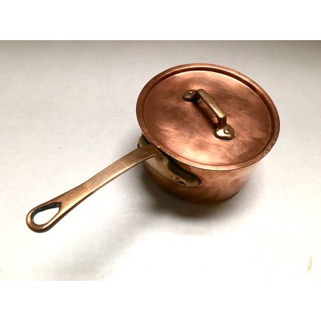 Bazar Francais Vintage Copper Saucepan - Image 8 of 8