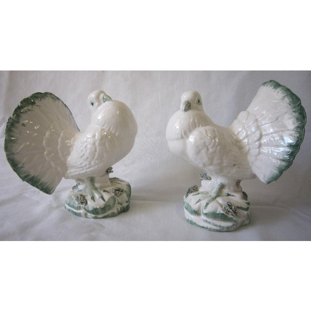 Green Italian Bird Figurines - a Pair For Sale - Image 8 of 8