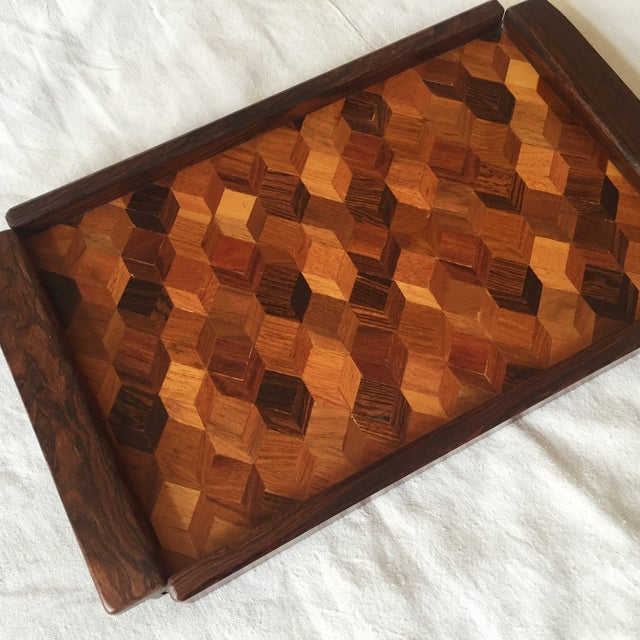 Don Shoemaker Cocobolo Op Art Tray - Image 4 of 8