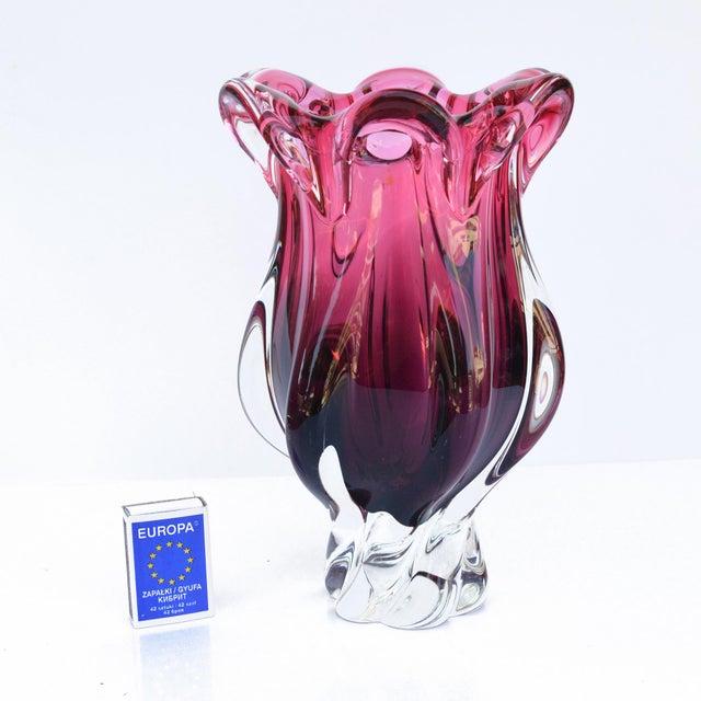 1960s Crystal Vase Designed by J. Hospodka Chribska Sklarna, Czechoslovakia For Sale - Image 4 of 8
