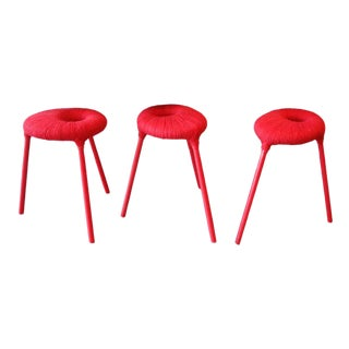 Set of Three Eskilstuna Stools by G.Findlay and c.i McElroy For Sale