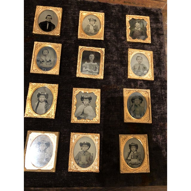 Collection of School Children and Teacher Portraits Circa 1870 in Acrylic Case - Set of 20 For Sale In Atlanta - Image 6 of 13