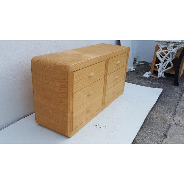Gabriella Crespi Style Rattan Dresser. - Image 3 of 11