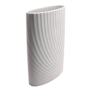1970s Vintage Rosenthal Op Art White Porcelain Vase For Sale